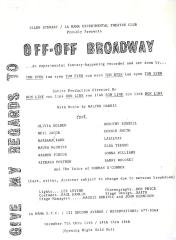 """Promotional Flyer: """"Give My Regards to Off-Off Broadway"""""""
