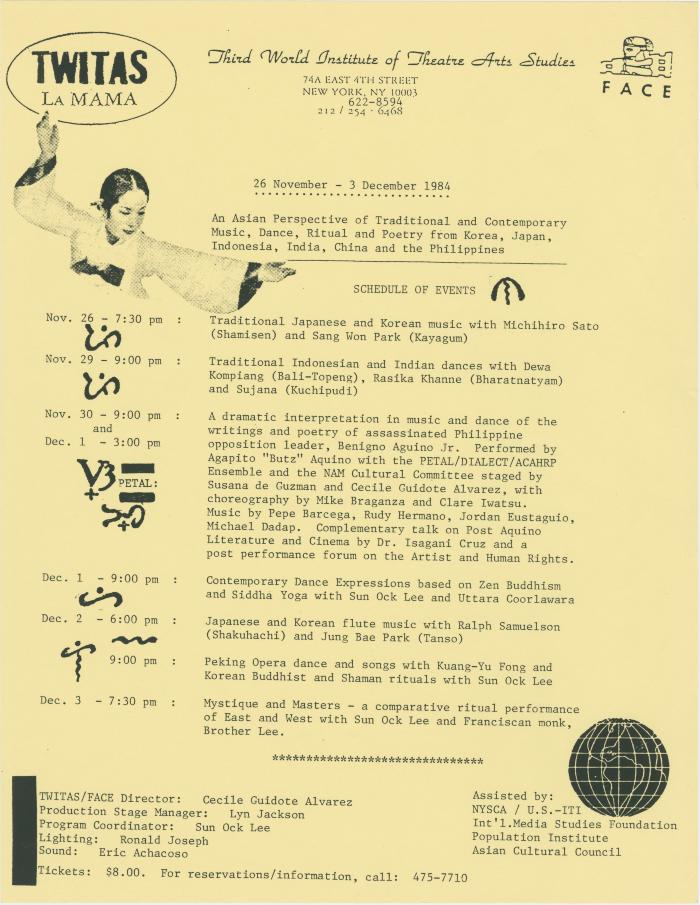 """Promotional Flyer: """"An Asian Perspective"""" (1984)"""
