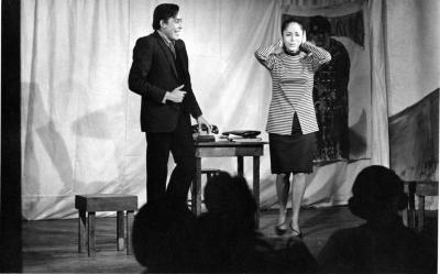 """Production Photograph by James Gossage: """"Three Plays by Enrique Vargas"""" (1967)? (Wide Shot)"""