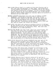 """Cast bios for """"Futz"""" (1967a) (first page)"""