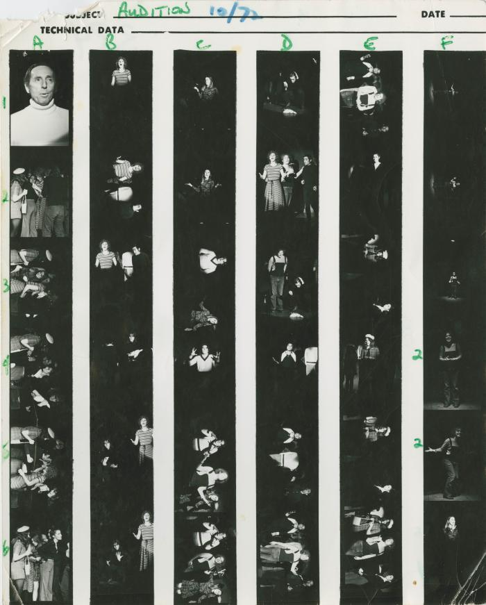 """Contact Sheets: """"Audition!"""" (1972)"""