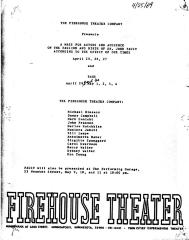 """Program: """"Faust"""" and """"Rags"""" (1969)"""