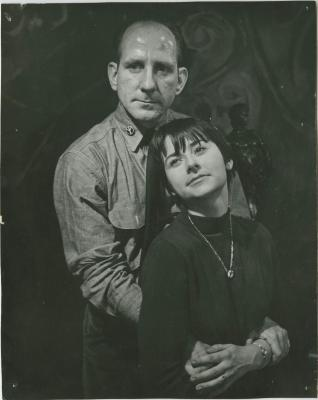 """Promotional Photograph: """"The Trial of Judith Malina and Julian Beck"""" (1966)"""