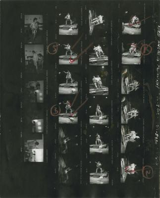 """Camera Negatives and Contact Sheet: """"The Architect And The Emperor Of Assyria"""" (1976)"""