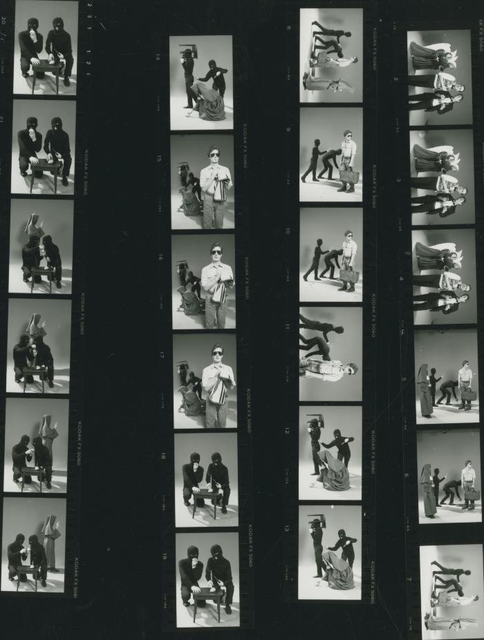 "Promotional Photographs and Contact Sheets: ""Nuit Blanche"" (1985)"