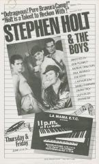 """Promotional Flyer: """"Stephen Holt and the Boys"""" (1983)"""
