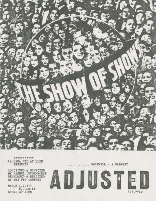 """Promotional Flyer: """"Farewell - Adjusted"""" (1984)"""
