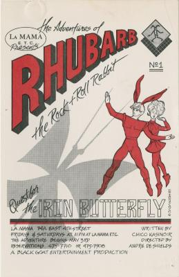 """Promotional Flyer, Postcard, and Program:""""The Adventures of Rhubarb: The Rock and Roll Rabbit"""" (1985)"""